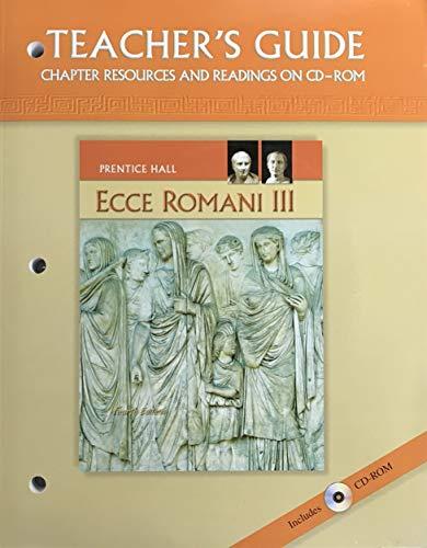 9780133610987: Ecce Romani III - A Latin Reading Program - Teacher's Guide(4th Edition) (Ecce Romani - A Latin Reading Program)