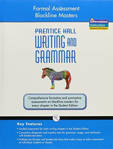 9780133615173: WRITING AND GRAMMAR 2008 FORMAL ASSESSMENT BLACKLINE MASTERS GRADE 7