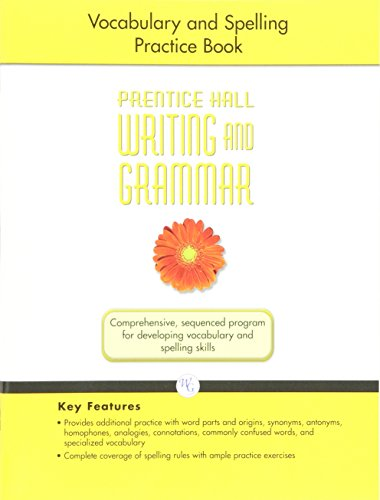 9780133615999: WRITING AND GRAMMAR VOCABULARY AND SPELLING WORKBOOK 2008 GR6