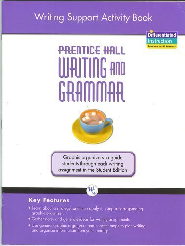 9780133616378: WRITING AND GRAMMAR WRITING SUPPORT ACTIVITY BOOK 2008 GR 10