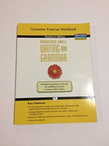 9780133616491: Prentice Hall Writing and Grammar, Grade 6: Grammar Exercise Book [Teacher's Edition]