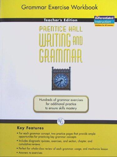 9780133616552: Prentice Hall Writing and Grammar: Grammar Exercise Workbook, Teacher's Edition