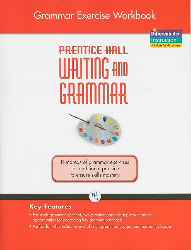 9780133616927: WRITING AND GRAMMAR EXERCISE WORKBOOK 2008 GR8 (Prentice Hall Writing and Grammar)