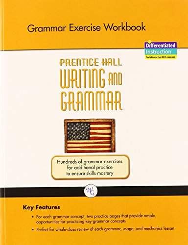 9780133616958: WRITING AND GRAMMAR EXERCISE WORKBOOK 2008 GR11
