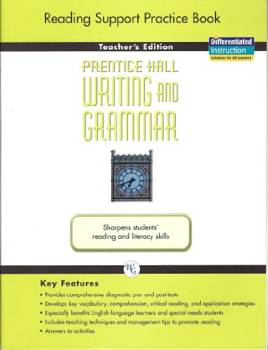 Prentice Hall Writing and Grammar Reading Support: Pearson Prentice Hall