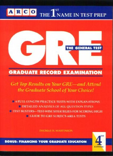 9780133617757: Graduate Record Exam Genrl Tst (Arco Master the GRE CAT)