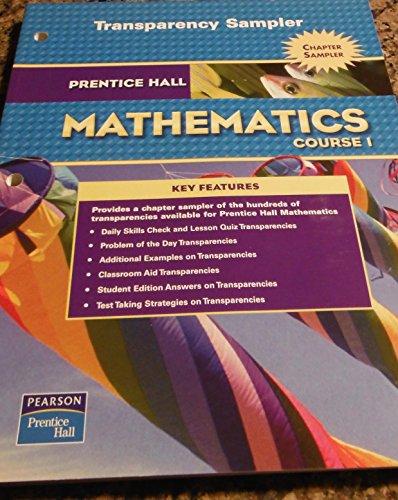Mathematics Course 1 Transparency Sampler (Prentice Hall: Pearson Education
