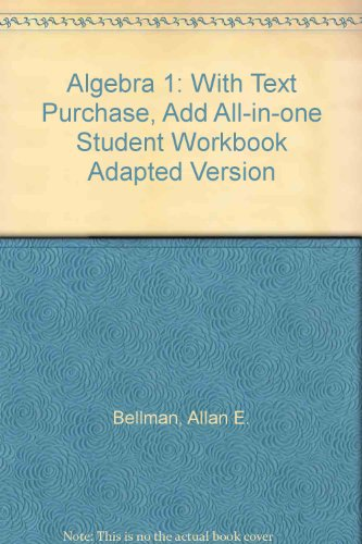 9780133623710: Prentice Hall Mathematics: Algebra 1: With text purchase, add All-in-One Student Workbook, Adapted Version (NATL)
