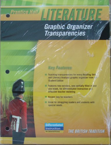 9780133625882: Prentice Hall Literature Graphic Organizer Transparencies, Penguin Edition, The British Tradition