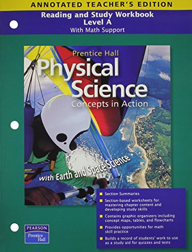 9780133628210: Reading and Study Workbook, Level A: With Math Support for Physical Science Concepts in Action, Annotated Teacher's Edition