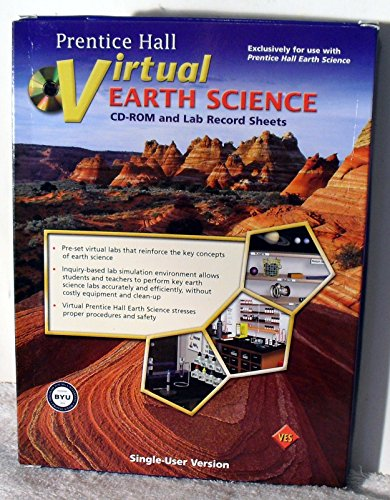 9780133628661: Prentice Hall Virtual Earth Science CD-ROM and Lab Record Sheets, Single-User Version