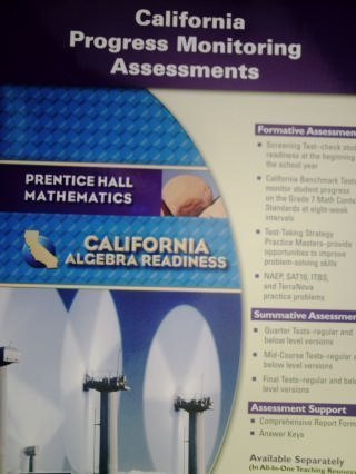 9780133632293: Algebra Readiness: California Progress Monitoring Assessments