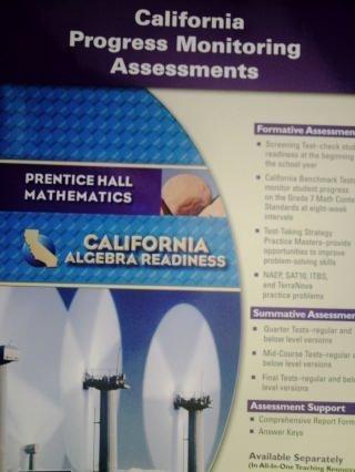 9780133632293: Algebra Readiness: California Progress Monitoring Assessments (Prentice Hall Mathematics, California Algebra Readiness)