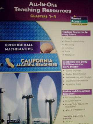9780133632309: All-In-One Teaching Resources Chapters 1-4 (Prentice Hall Mathematics - California Algebra Readiness)