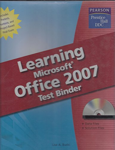 9780133639490: Learning Microsoft Office 2007 Test Binder