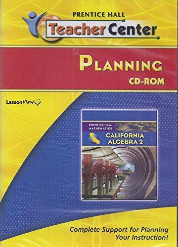 9780133643039: CA Algebra 2 Teacher Center Planning CD-ROM Set