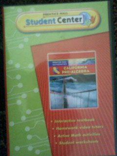 9780133643534: California Pre Algebra Prentice Hall Mathematics (Prentice Hall Student Center)
