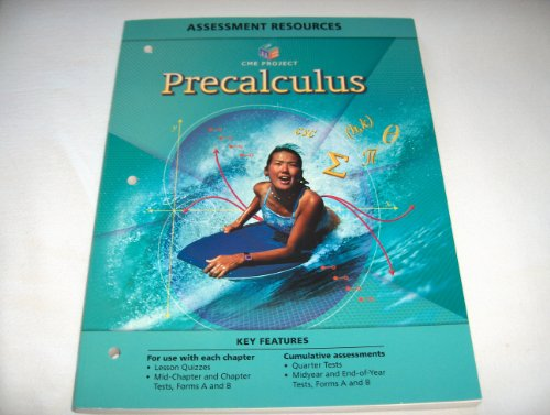 9780133644227: CENTER FOR MATHEMATICS EDUCATION PROJECT PRECALCULUS ASSESSMENT         RESOURCES BLACKLINE MASTERS