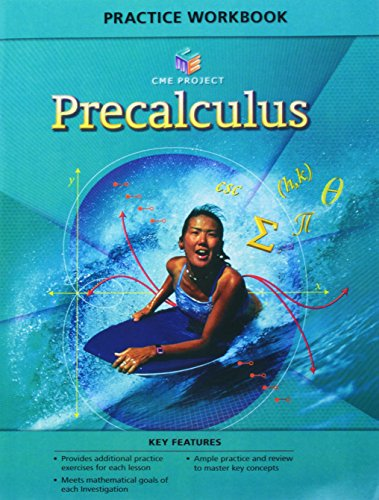 9780133644340: CENTER FOR MATHEMATICS EDUCATION PROJECT PRECALCULUS PRACTICE WORKBOOK