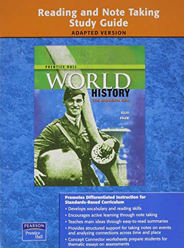 9780133652017: WORLD HISTORY READING AND NOTETAKING STUDY GUIDE MODERN ADAPTED 2009