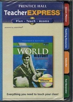 9780133652154: 2009 Prentice Hall World History The Modern Era Teacher Express CD