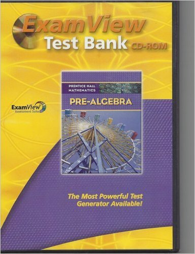 9780133659894: Exam View Test Bank CD-ROM, Pre-Algebra (Prentice Hall Mathematics)
