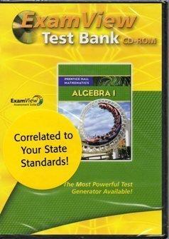 9780133659917: 2009 Prentice Hall Algebra 1 Exam View Test Bank CD