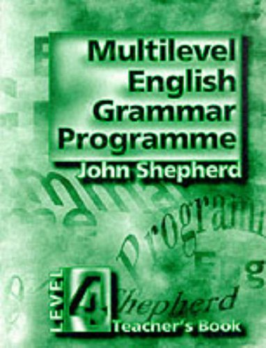 9780133660555: Multilevel English Grammar Programme: Teacher's Book Level 4