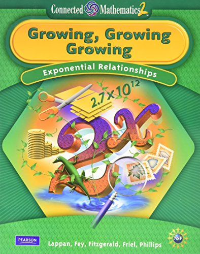 CONNECTED MATHEMATICS GRADE 8 STUDENT EDITION GROWING, GROWING, GROWING: HALL, PRENTICE