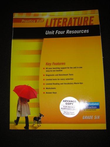 9780133664324: PRENTICE HALL LITERATURE 2010 UNIT 4 RESOURCE GRADE 6
