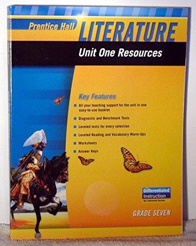 9780133664355: PRENTICE HALL LITERATURE 2010 UNIT 1 RESOURCE GRADE 7