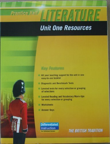 9780133664683: PRENTICE HALL LITERATURE 2010 UNIT 1 RESOURCE GRADE 12