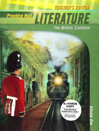 Literature: The British Tradition, Teachers Edition: Hall, Prentice