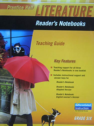 9780133666953: Reader's Noteboooks: Teaching Guide, Grade 6 (Prentice Hall Literature)