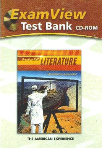 9780133668001: ExamView Test Bank:Prentice Hall Literature, The American Experience