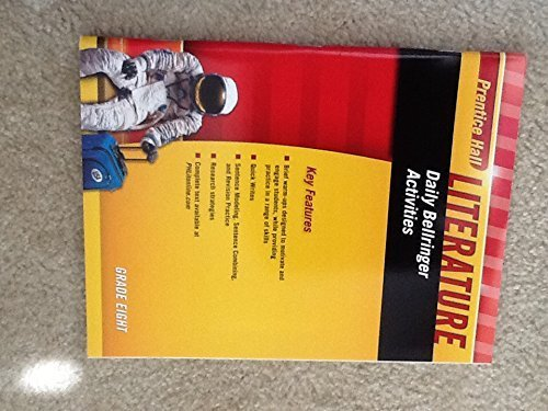9780133674170: Daily Bellringer Activities Grade 8 (Prentice Hall Literature)
