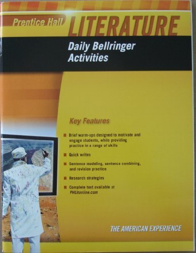9780133674200: Prentice Hall Literature - Daily Bellringer Activities, Key Features, Grade Ten