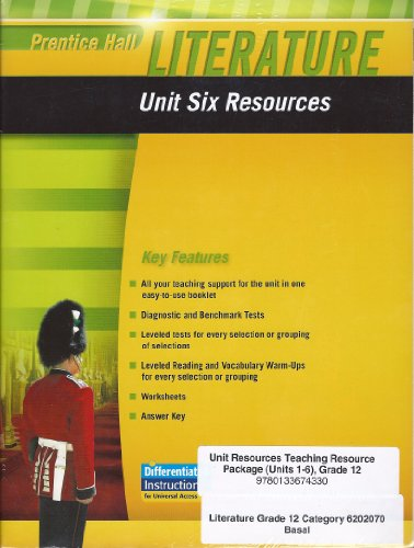 9780133674330: Prentice Hall Literature: Unit Resources, The British Tradition