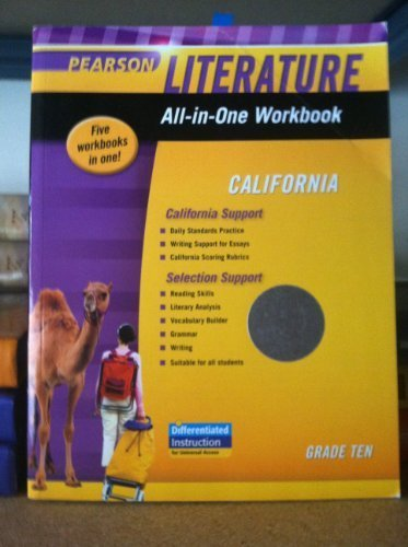 9780133675528: Literature All-in-One Workbook California Grade 10