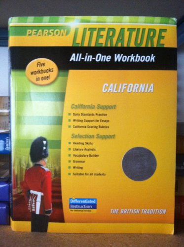 9780133675542: Pearson Literature All-in-One Workbook California Grade 12