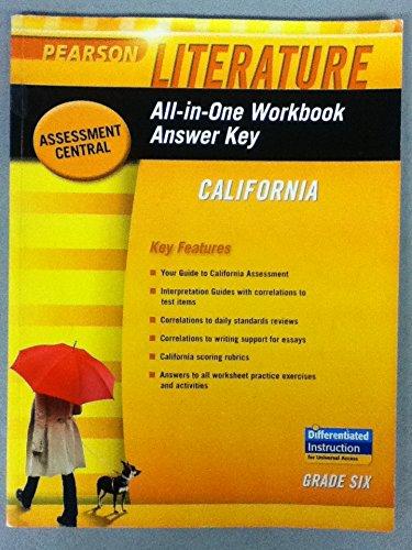 9780133675634: All-in-One Workbook Answer Key: California, Grade 6 (Pearson Literature)