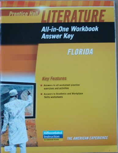 9780133675764: Prentice Hall Literature All-in-One Workbook Answer Key, Florida, The American Experience