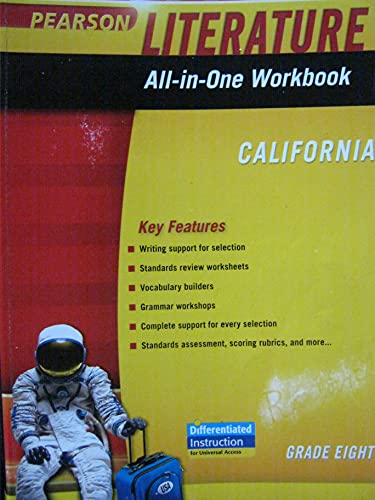 Literature All-in-One Workbook Grade 8 California: Pearson