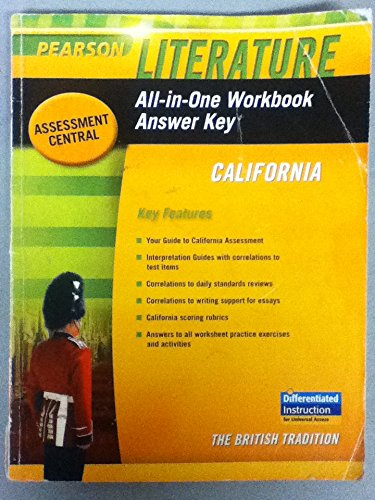 9780133675795: Literature All-in-One Workbook Answer Key California (The British Tradition)