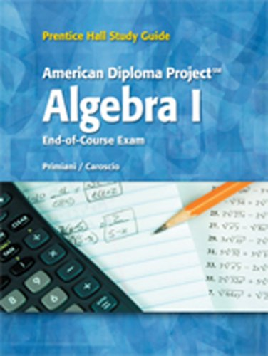 9780133684186: BRIEF REVIEW STUDY GUIDE FOR THE ADP ALGEBRA 1 ANSWER KEY C 2010