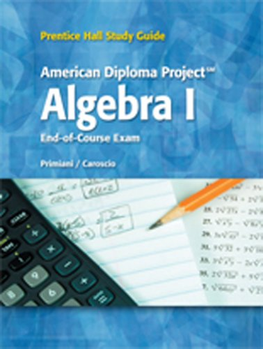 9780133684193: BRIEF REVIEW STUDY GUIDE FOR THE ADP ALGEBRA 1 C2010