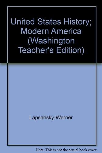 9780133686708: United States History; Modern America (Washington Teacher's Edition)