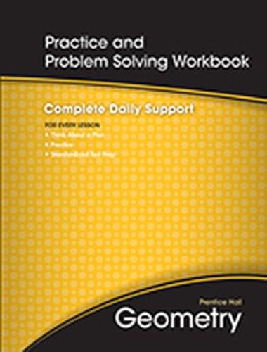9780133688825: Prentice Hall Geometry, Practice and Problem Solving Workbook