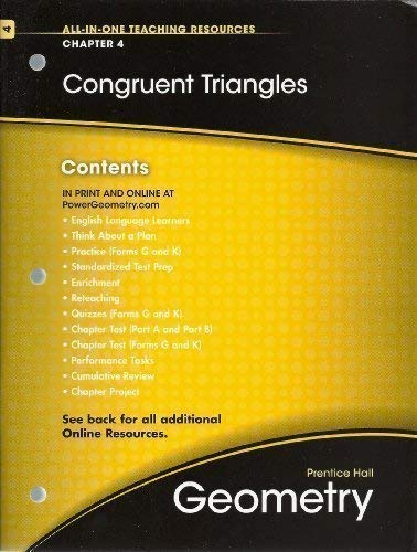 9780133689051: Congruent Triangles, Chapter 4, Geometry, All-in-One Teaching Resources