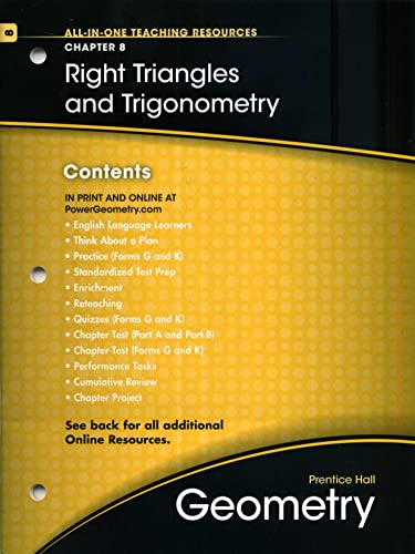 Prentice Hall Geometry All-In-One Teaching resources Chapter: Pearson Education